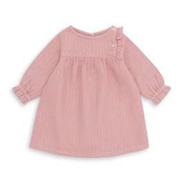 Baby 金線皺棉洋裝_氣質粉