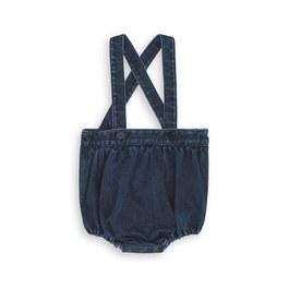Baby 丹寧吊帶泡泡短褲