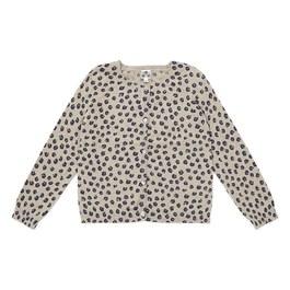 豹紋混羊毛薄款針織外套