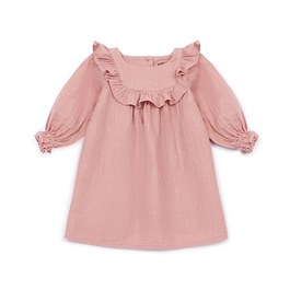 Baby 荷葉領金線皺棉洋裝
