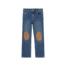 補釘造型刷色丹寧褲