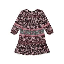 波西米亞風薄棉長版洋裝