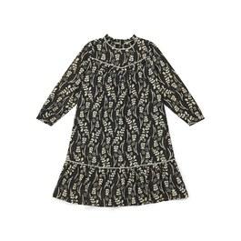 甘草花金線薄棉長版洋裝