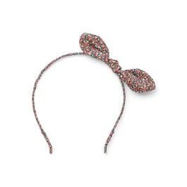 英倫碎花蝴蝶結髮箍