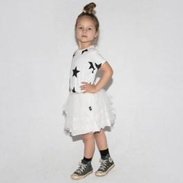 星星蓬裙洋裝