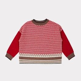 Minos 薄款羊毛緹花套頭衫(偏寬版)