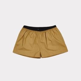 橄欖綠薄棉鬆緊短褲