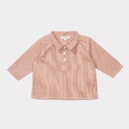 Baby Owl 紅色細格紋襯衫