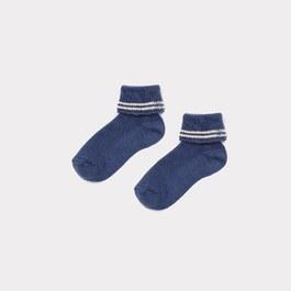 Baby 海軍藍羅紋短襪