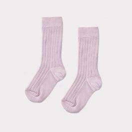 薰衣草紫羅紋中筒襪
