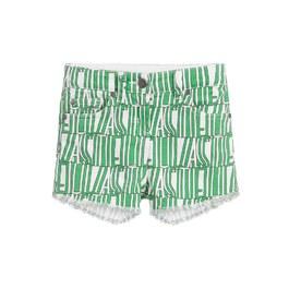 Stella 綠色LOGO抽鬚短褲