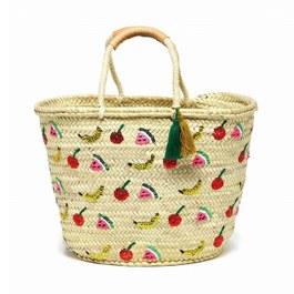 水果亮片流蘇編織提籃