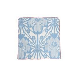 藍色花朵方巾