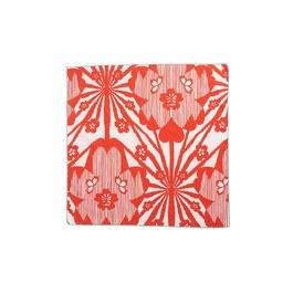 紅色花朵方巾
