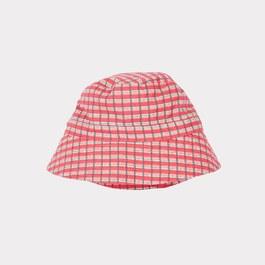 紅色格紋漁夫帽