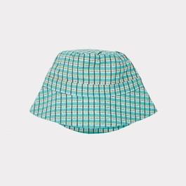 碧綠色格紋漁夫帽