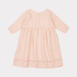 Wimbledon 淡粉七分袖麻質洋裝(版型偏大)